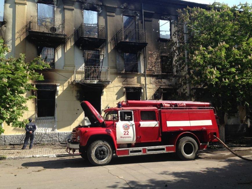 Опубликованы фотографии сгоревшего здания ГУВД и Мариупольского горсовета (ФОТО), фото-9