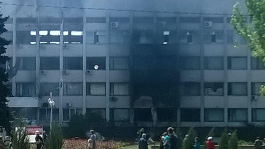 Опубликованы фотографии сгоревшего здания ГУВД и Мариупольского горсовета (ФОТО), фото-25