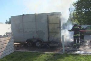 На Львівщині загорівся автомобільний причеп (ФОТО, ВІДЕО), фото-2
