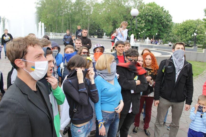 В Кривом Роге  на шутливый флеш-моб  первыми отреагировали сотрудники милиции (ФОТО, ВИДЕО), фото-8