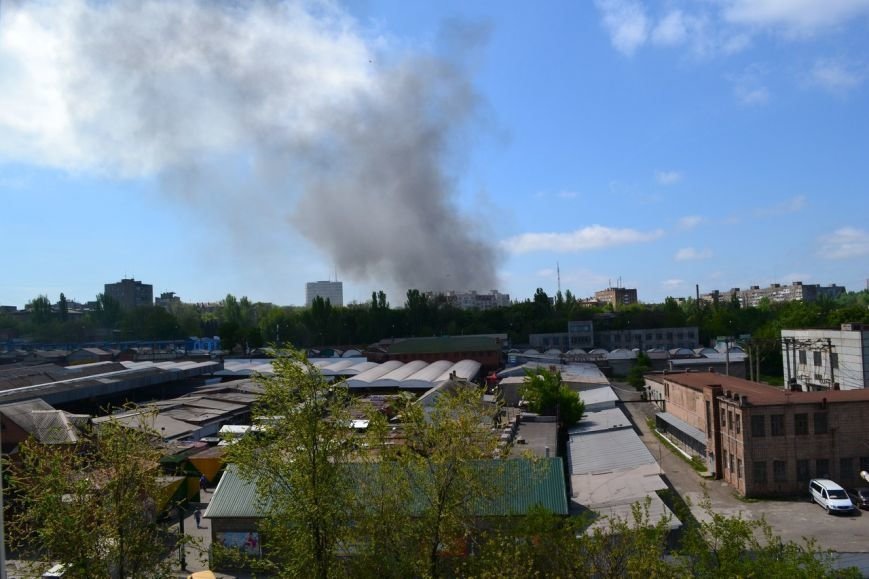 В Мариуполе вновь горит горсовет (ФОТО+ВИДЕО), фото-1
