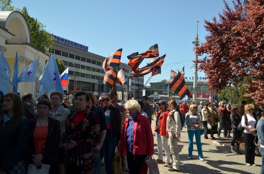 Симферопольцы вышли на митинги в поддержку юго-востока Украины (ФОТО, ВИДЕО), фото-1