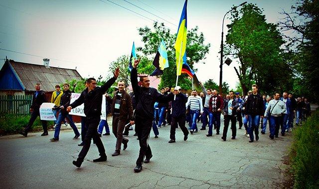 Шахтеры  Кривого Рога  потребовали повышения зарплат и укрепления блокпостов, фото-2