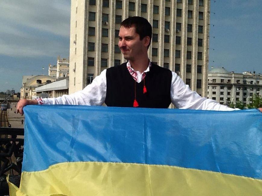 В Харькове прошел флешмоб с украинской символикой (ФОТО), фото-5