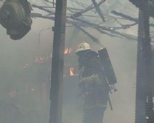 Вогонь знищив усі дрова на складі, що горів на околиці Львова (ФОТО, ВІДЕО), фото-1