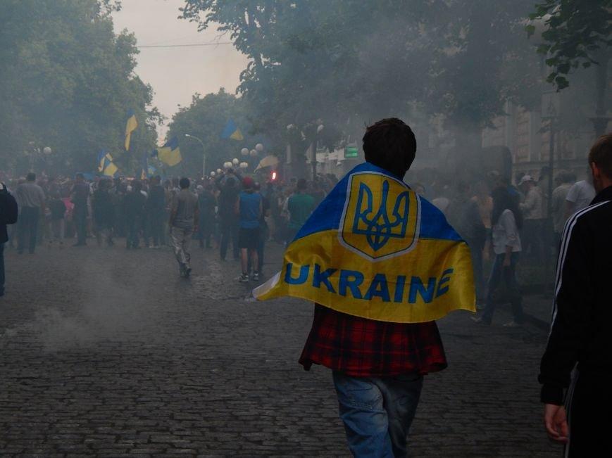 Вражаюча багатотисячна хода футбольних вболівальників у Полтаві за єдність України (ФОТО, ВІДЕО), фото-4
