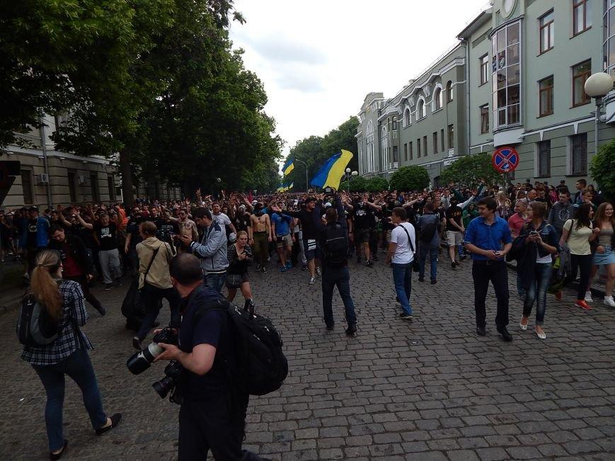 Вражаюча багатотисячна хода футбольних вболівальників у Полтаві за єдність України (ФОТО, ВІДЕО), фото-3