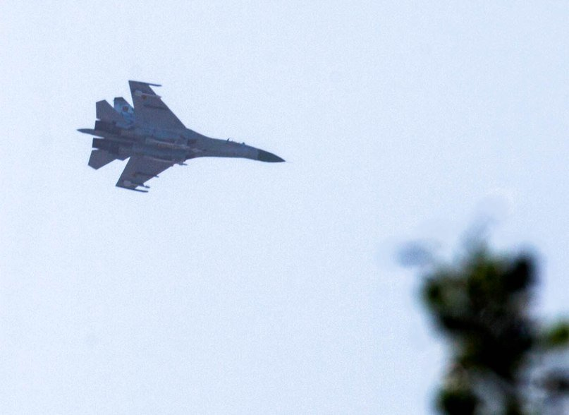 В соцсетях появились фото истребителя, который был сегодня замечен в небе над Горловкой, фото-3