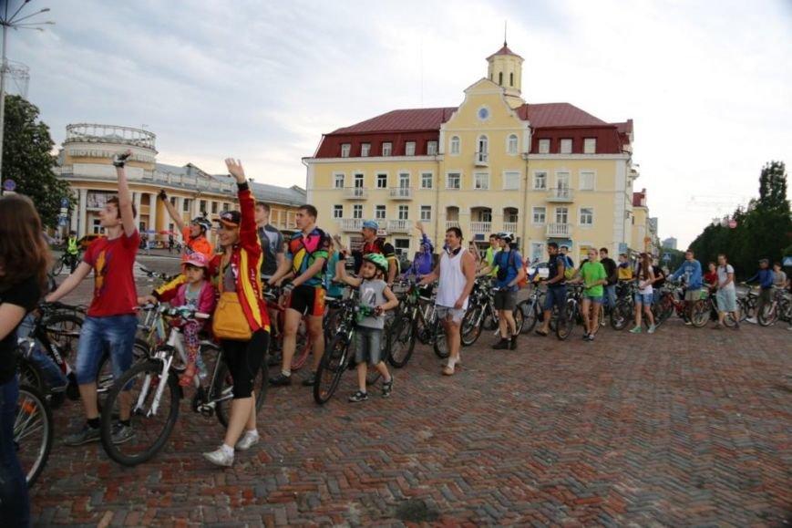 В Чернигове соорудили рекордный живой велосипед, фото-7