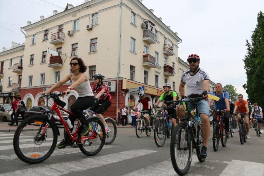 В Чернигове соорудили рекордный живой велосипед, фото-11