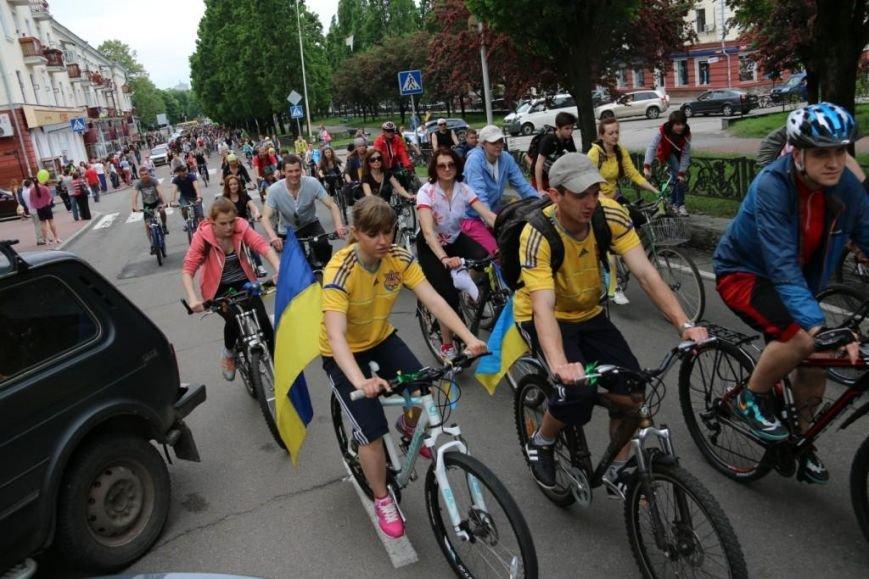 В Чернигове соорудили рекордный живой велосипед, фото-10