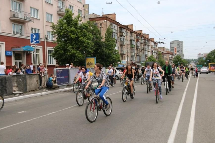 В Чернигове соорудили рекордный живой велосипед, фото-9