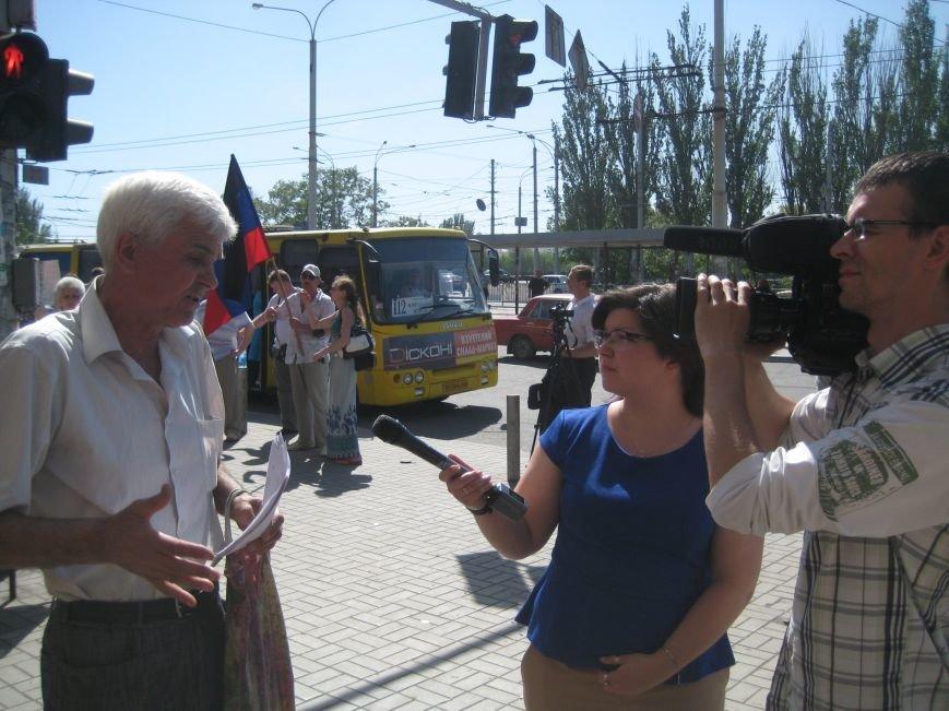 В Мариуполе ДНРовцы митингуют возле проходных «Азовстали»(ФОТО+ВИДЕО), фото-6