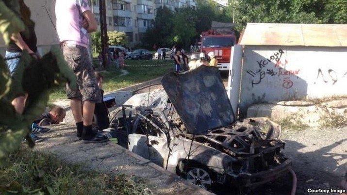 В Симферополе взорвалось авто: возбуждено дело о покушении на убийство (ФОТО), фото-1