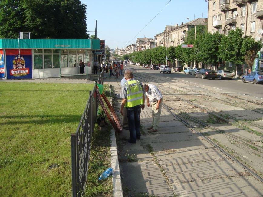 В Днепродзержинске были парализованы все трамваи, фото-5