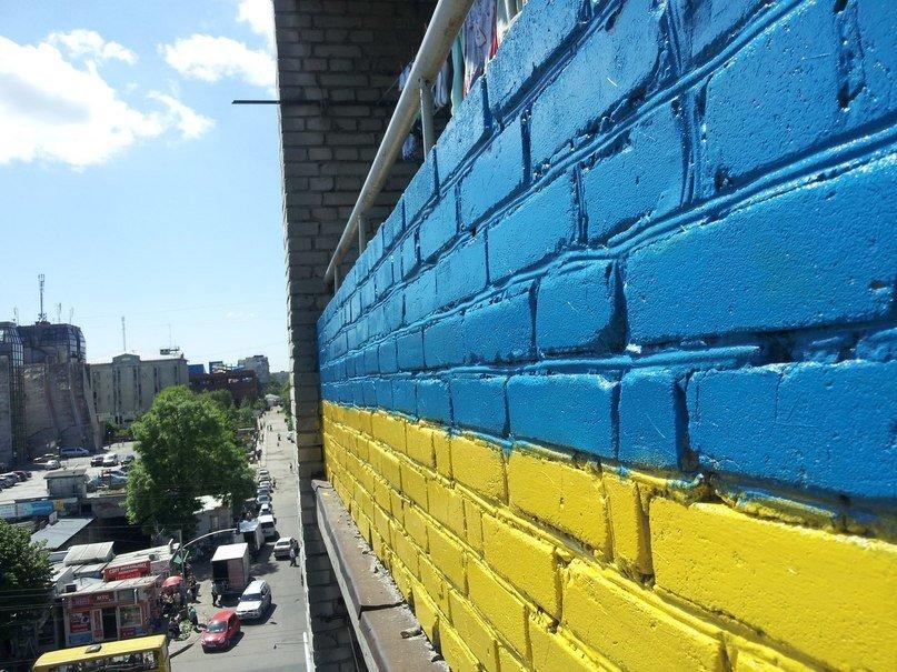 У Львові пофарбували балкон у синьо-жовтий колір (ФОТО), фото-3
