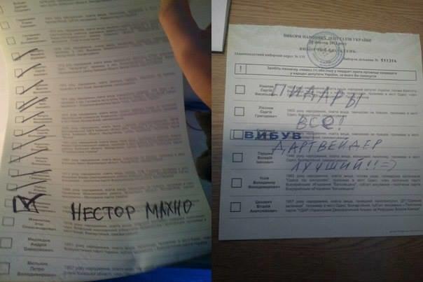 ФОТОФАКТ: Украинцы голосуют за Путина, Дарта Вейдера, фото-3