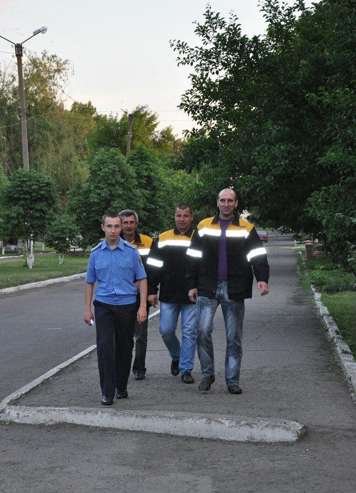 Дружинники в Червонопартизанске