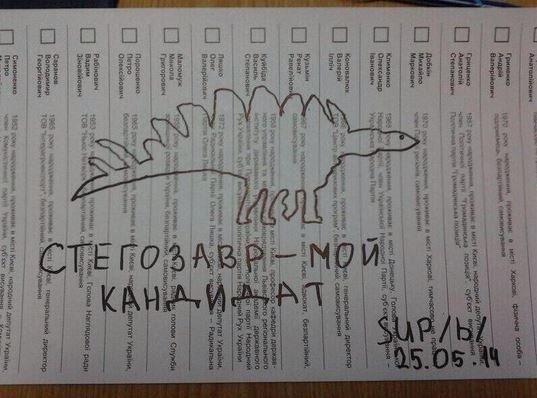 Творчі доробки виборців: українці голосували за Висоцького та Путіна (ФОТО), фото-9