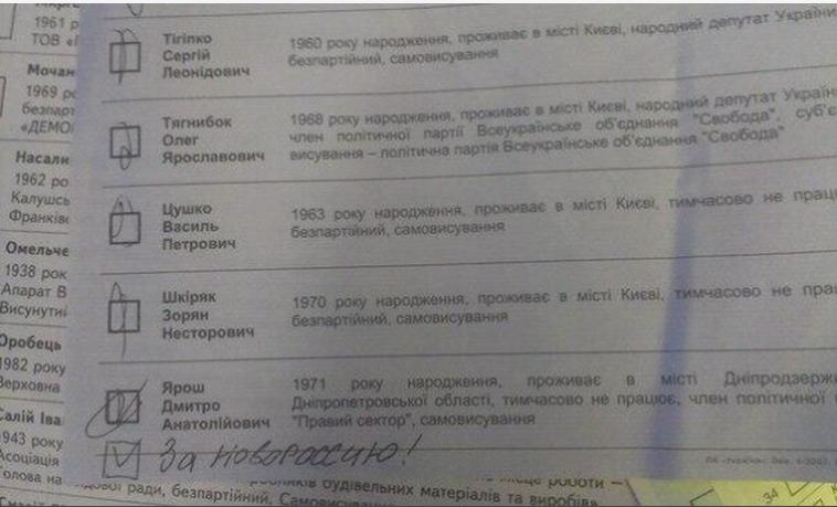 Творчі доробки виборців: українці голосували за Висоцького та Путіна (ФОТО), фото-2