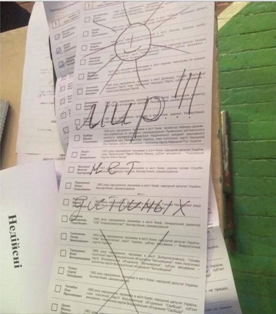 Творчі доробки виборців: українці голосували за Висоцького та Путіна (ФОТО), фото-17