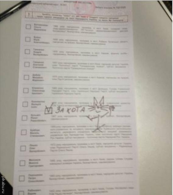 Творчі доробки виборців: українці голосували за Висоцького та Путіна (ФОТО), фото-18