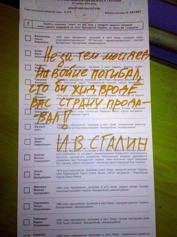 Творчі доробки виборців: українці голосували за Висоцького та Путіна (ФОТО), фото-3