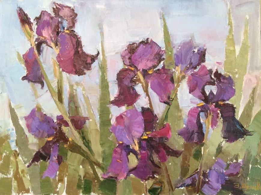 картина Элеоноры Щегловой - Весна. Ирисы