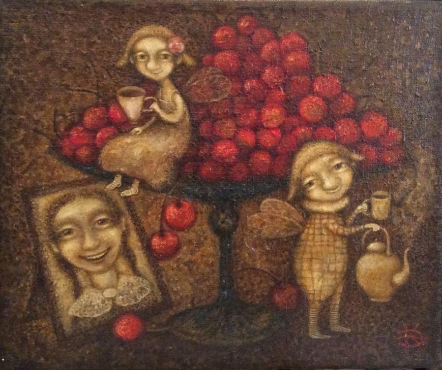 картина Киры Эмеретли - Черешня