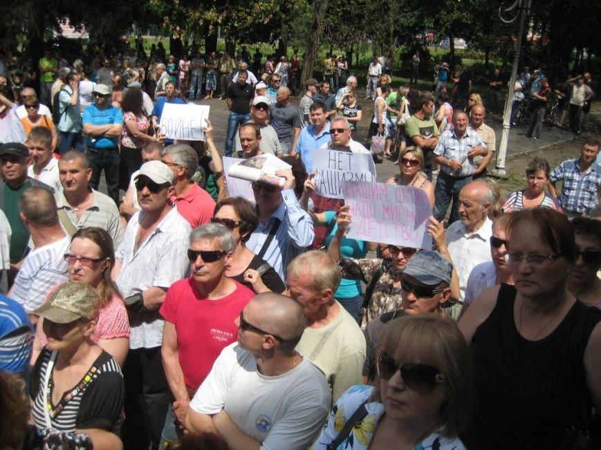 В Мариуполе митинговали за отставку Юрия Хотлубея (ФОТОРЕПОРТАЖ), фото-12