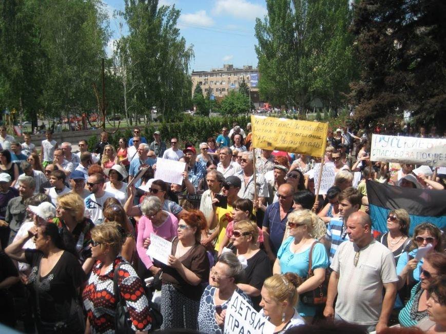 В Мариуполе митинговали за отставку Юрия Хотлубея (ФОТОРЕПОРТАЖ), фото-15