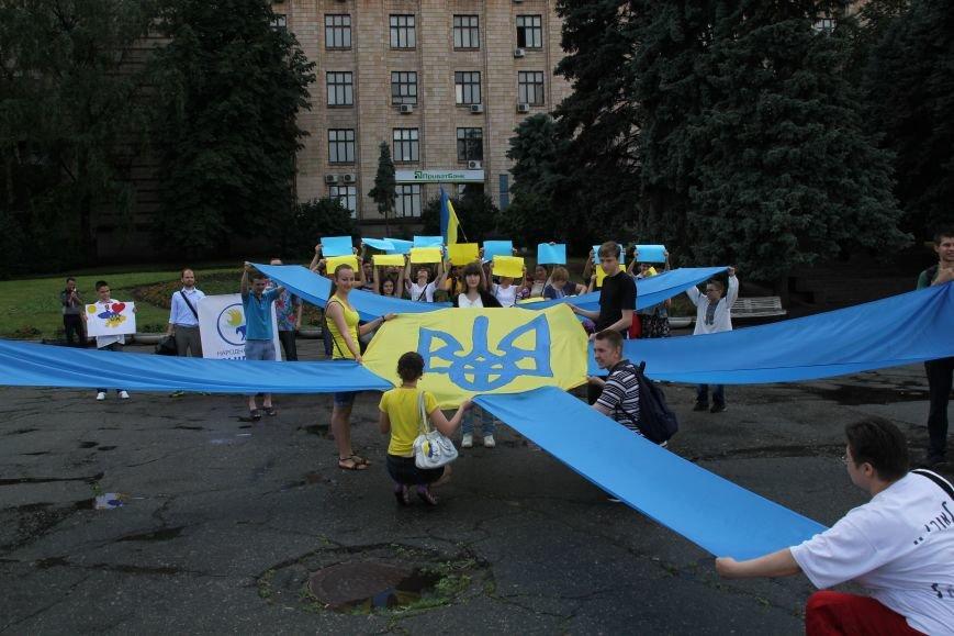 В Днепропетровске прошел флешмоб «Украина - это мы» (ФОТОРЕПОРТАЖ), фото-12