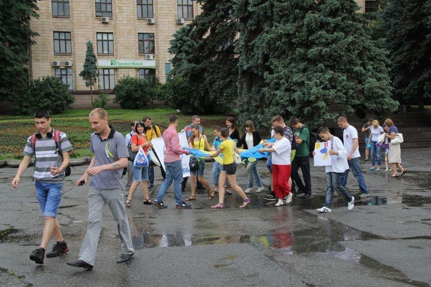 В Днепропетровске прошел флешмоб «Украина - это мы» (ФОТОРЕПОРТАЖ), фото-8