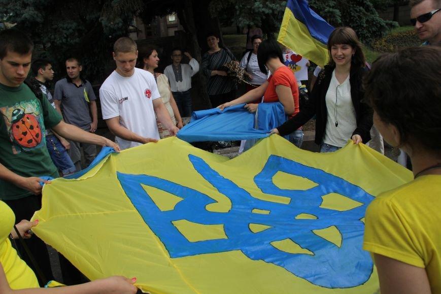 В Днепропетровске прошел флешмоб «Украина - это мы» (ФОТОРЕПОРТАЖ), фото-4