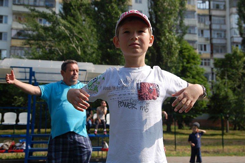 В Белгороде очередную «Зарядку со звездой» провела Юлия Хоркина (фото) - фото 3