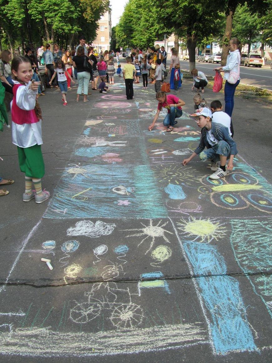 Конкурс детского рисунка на асфальте в рамках акции «Нет курению» (ФОТО), фото-1