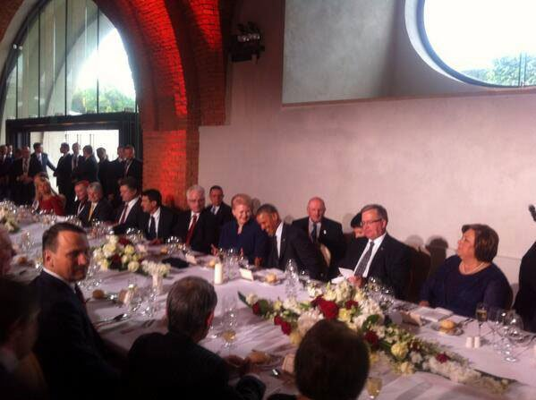 ужин Обама