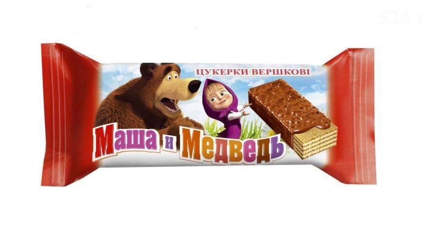 Маша и Медведь вафельная