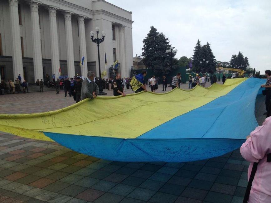 Беженцы из Донбасса под Радой требуют предоставить им статус переселенцев (ФОТОФАКТ), фото-4