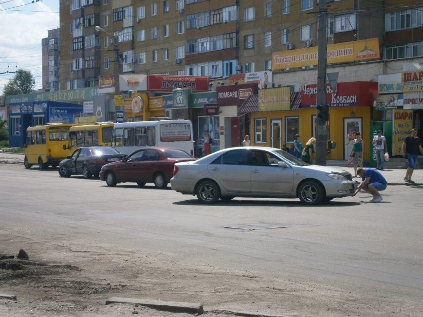 В Кировограде столкнулись «Mercedes» и Toyota (фото), фото-1