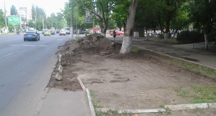 В Одессе на газоне роют парковочный карман (ФОТОФАКТ), фото-2