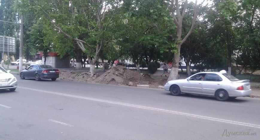 В Одессе на газоне роют парковочный карман (ФОТОФАКТ), фото-3