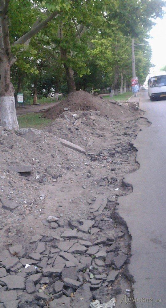 В Одессе на газоне роют парковочный карман (ФОТОФАКТ), фото-4