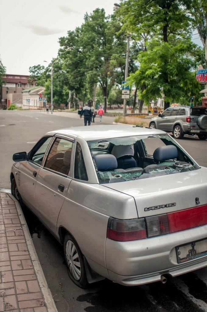 В Мариуполе в ходе АТО был ранен водитель легковушки (ФОТО), фото-2