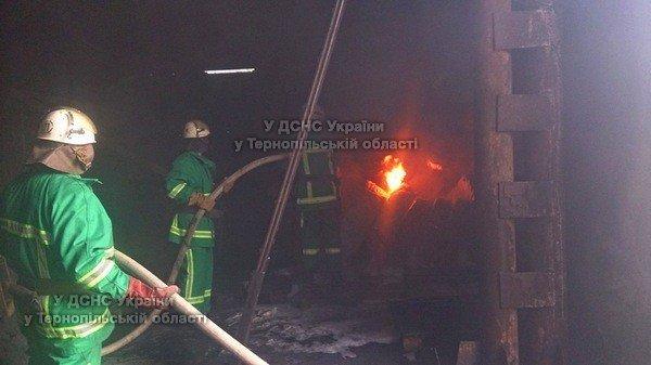 На Тернопільщині з невідомих причин виникла пожежа на території приватного підприємства (фото), фото-3