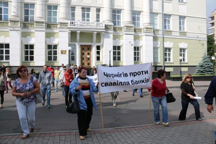 Черниговцы протестуют против валютного произвола, фото-9