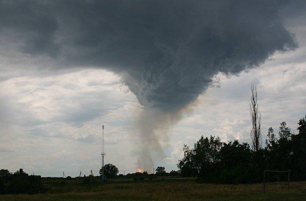 На Полтавщине взорвался газопровод, по которому газ идёт в Европу (фото и видео), фото-1