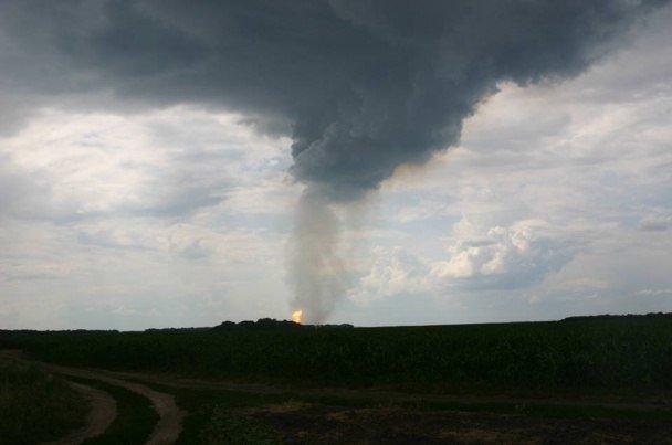На Полтавщине взорвался газопровод, по которому газ идёт в Европу (фото и видео), фото-3