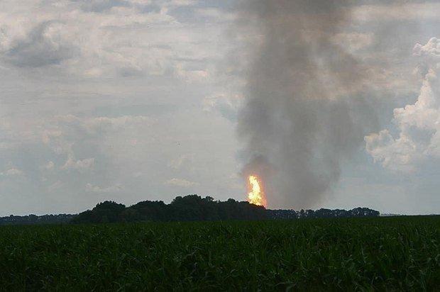 На Полтавщине взорвался газопровод, по которому газ идёт в Европу (фото и видео), фото-2