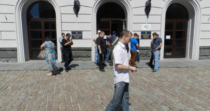 «Правый сектор» пытался сорвать сессию облсовета и подрался с охраной Корбана? (ФОТО), фото-3